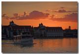 Sunset on the 7 seas lagoon