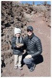 Steve and Norah with the lava rocks