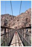 Norah crossing the Black Bridge