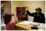 Norah taking the Junior Ranger pledge