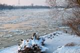 Vistula River With Ice