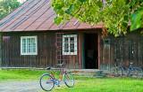 Bikes Waiting At The Village Shop