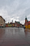 Old Town In Rain