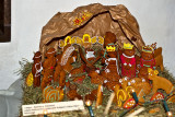 Christmas Crib With Gingerbread Figures