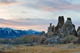 Tufa Columns And Sierra Nevada Mountains