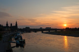 Sunset Over Elbe River