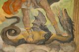 Dragon On Church Painting