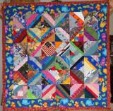 Scrap baby quilt June 2011