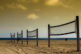 volley ball on Zuma Beach
