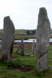 Calanish Stone Circle in the distance