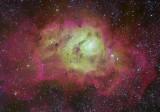 Lagoon Nebula in Tri-Colour NB