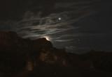 Jupiter, Hyades, and Earthshine