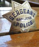 San Jose Police engraved badge