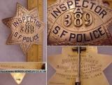 retired sfpd inspectors badge