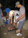 Grilling some ribeyes