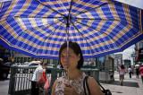 Woman With Umbrella #7080
