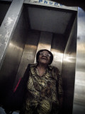 Woman In Phone Booth