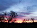 Rainy Weather Winter Sunset.