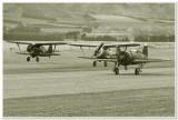 Polikarpov I-15s & I-16 take off