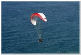 Parasailing over pacific ocean