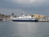 Following some split with Balearia, this Fjellstrand 38.8m ferry has lost all Balearia markings.
