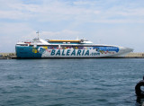 The largest ferry operating from La Savina when I was there, Ramon Llull.