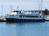 Cala Castell has been repainted in Trasmapi's colours since 2010