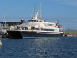 Balearia's 'New' Ferry Maverick at La Savina - September 2011