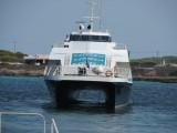 Balearia's Eivissa Jet going astern at La Savina - September 2011
