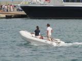 Crossing the Port - La Savina June 2012