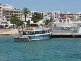 New Jetty at Santa Eulalia with Es Cana Ferry Waiting