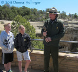 Ranger Guide At Cliff Palace