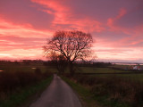 Red  skies  over  the  Solway  Firth.