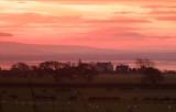 Red  dawn  over  Battlehill.