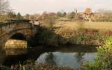 The c 18th  century  bridge  over  the  River  Mersey.
