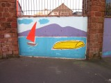 Painted  wall  at  Haulage  Depot.