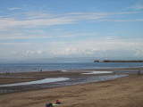 Ayr  beach, looking  north  across  Ayr  Bay, towards  Troon.
