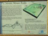 Mount Bures motte;information board.