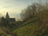 Mount  Bures ;relationship  twixt  church  and  motte