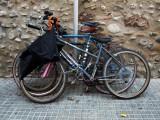 colgado de una bici