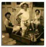 Grandma In The Pool