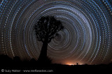 Morse code star trail