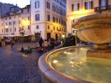 Early morning at Campo di Fiori, Rome