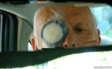 Rearview Mirror Self-Portrait, Just After Implant Surgery