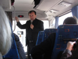 we join the study group early for a bus ride to the east side of Lviv...