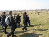 and we head down through the cemetery to the killing field