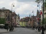 on Krakowskie Przedmiescie, heading toward Stare Miasto