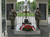 ...under honor guard