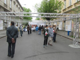 an outdoor display on the May 3rd constitution in Polish and world history