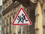 street crossing can be dangerous!